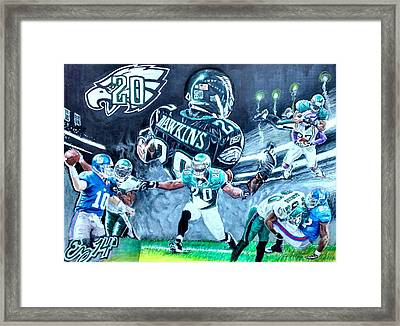 Brian Dawkins Framed Print by Ezra Strayer