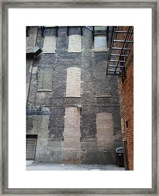 Brickovers Framed Print