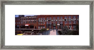 Bricktown Mercantile Building Framed Print