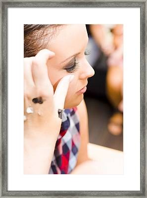 Bridal Eyelashes Framed Print by Jorgo Photography - Wall Art Gallery