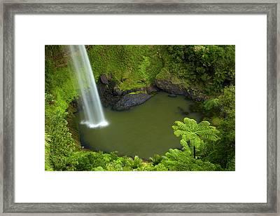 Bridal Veil Falls, Near Raglan Framed Print by David Wall