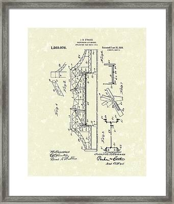 Bridge 1918 Patent Art Framed Print by Prior Art Design