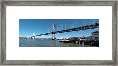 Bridge Across A Bay, Bay Bridge, San Framed Print