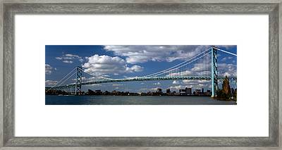 Bridge Across A River, Ambassador Framed Print by Panoramic Images