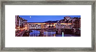 Bridge Across A River, Arno River Framed Print by Panoramic Images