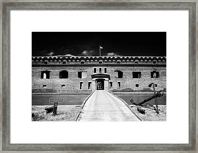 Bridge Across The Moat Sally Port Entrance To Fort Jefferson Dry Tortugas National Park Florida Keys Framed Print by Joe Fox