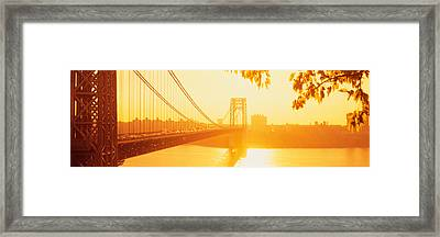 Bridge Across The River, George Framed Print by Panoramic Images