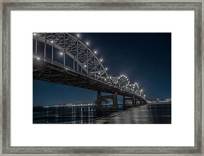 Bridge Lights Framed Print