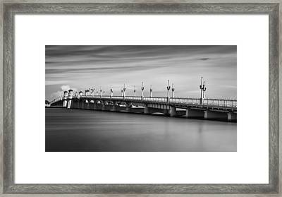 Bridge Of Lions Framed Print by David Mcchesney