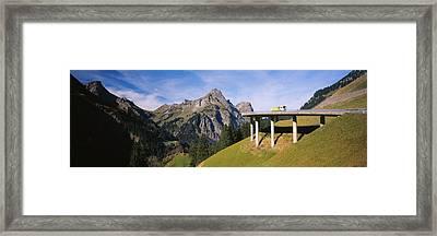 Bridge On Mountains, Mountain Pass Framed Print