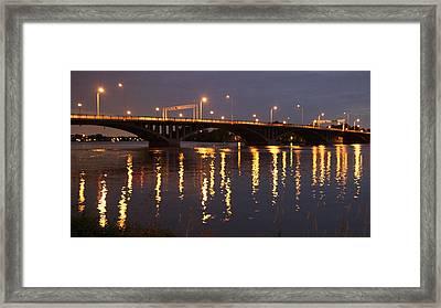 Bridge Over Water Framed Print by Jocelyne Choquette