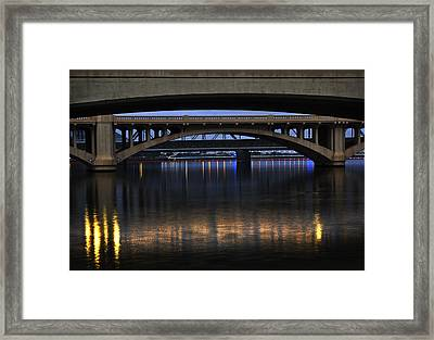 Bridge Reflections Framed Print by Dave Dilli