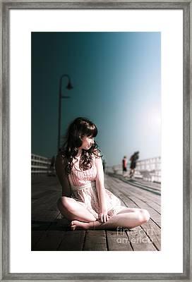 Bridge Woman Framed Print by Jorgo Photography - Wall Art Gallery