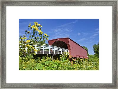 Bridges Of Madison County And Roseman Framed Print by Bill Bachmann