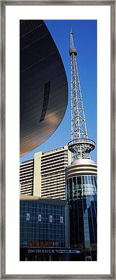 Bridgestone Arena Tower At Nashville Framed Print by Panoramic Images