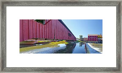 Bridgeton Bridge And Mill Framed Print
