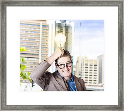 Bright Light Business Solution Framed Print by Jorgo Photography - Wall Art Gallery