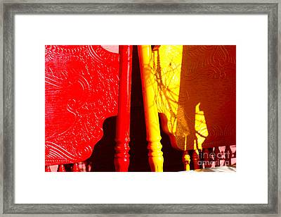 Bright Shadows Framed Print by Cathy Dee Janes