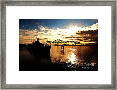 Bright Time On The River Framed Print