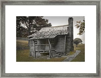 Brinegar Cabin In The Blue Ridge Parkway Framed Print by Randall Nyhof
