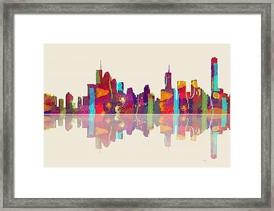 Brisbane Australia Skyline Framed Print