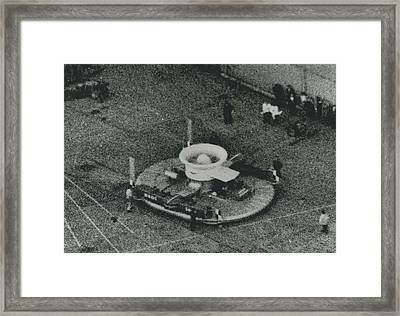 Britain's Flying Saucer Triumph Framed Print by Retro Images Archive