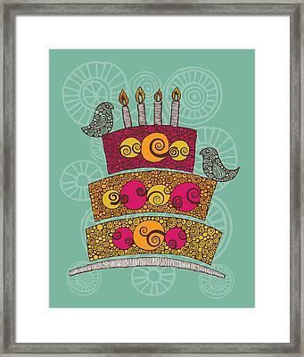 Brithday Cake_hi Res Framed Print by Valentina Ramos
