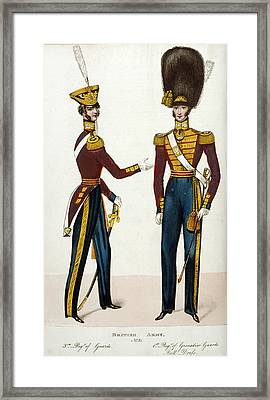 British Army Uniforms Framed Print by British Library