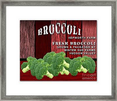 Broccoli Farm Framed Print