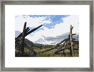 Broken Fence Framed Print