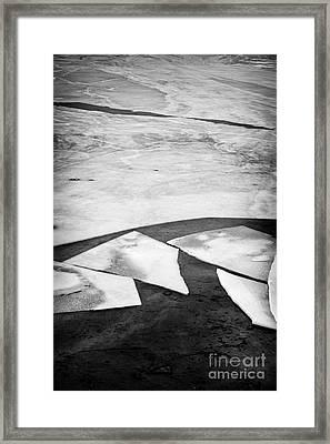 Broken Ice Framed Print