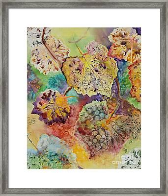 Framed Print featuring the painting Broken Leaf by Karen Fleschler