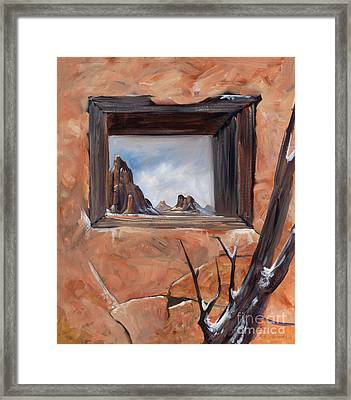 Broken Shelter Framed Print