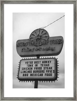 Broken Spoke Honky Tonk Framed Print