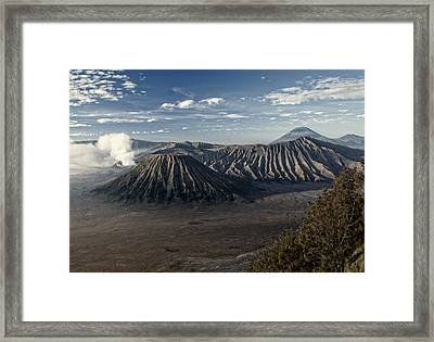 Bromo Mountain Framed Print by Miguel Winterpacht