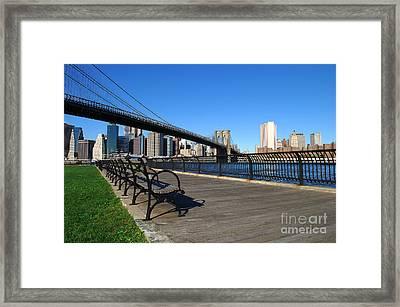 Brooklyn Bridge 5 Framed Print by Bob Stone