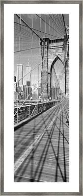 Brooklyn Bridge Manhattan New York City Framed Print by Panoramic Images