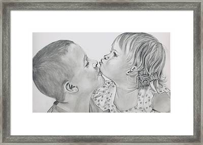 Brotherly Love Finished Framed Print by Barb Baker