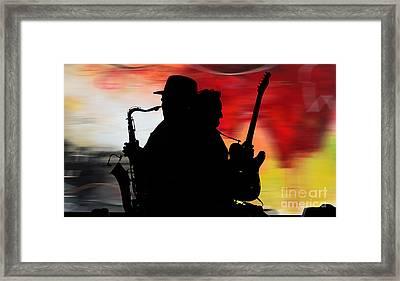 Bruce Springsteen Clarence Clemons Framed Print by Marvin Blaine