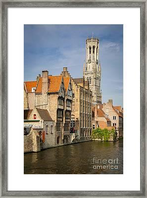 Bruges Canal Framed Print by Brian Jannsen