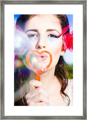 Bubble Kisses Framed Print by Jorgo Photography - Wall Art Gallery