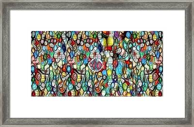 #1 Bubble Series Framed Print