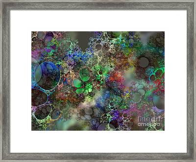 Bubbles Framed Print by Klara Acel