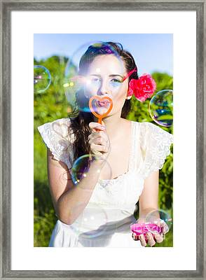 Bubbles Framed Print by Jorgo Photography - Wall Art Gallery