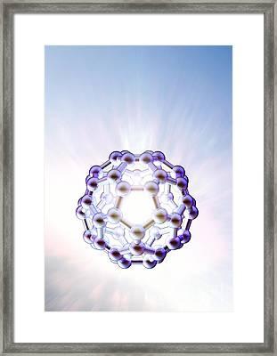 Buckminsterfullerene Molecule Framed Print by Animate4.com Ltd.