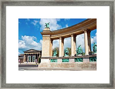 Budapest, Hungary, Heroes Square Framed Print by Miva Stock