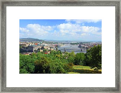 Budapest, Hungary, Scenic View Framed Print by Miva Stock