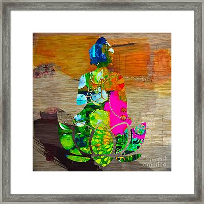 Buddah On A Lotus Framed Print by Marvin Blaine