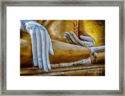 Buddha Golden Framed Print by Adrian Evans