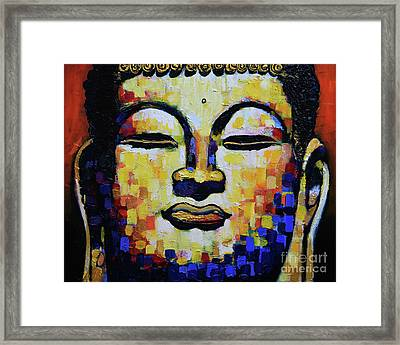 Buddha Head Framed Print by Stephen Humphries